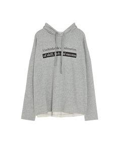 Hooded sweatshirt with slogan - Sweatshirts & Hoodies - Clothing - Woman - PULL&BEAR Ukraine