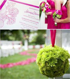 Pink and Green, perfect delta zeta wedding colors !!
