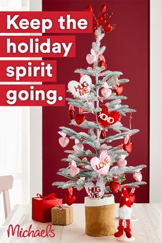 Transform your Christmas tree into a Valentine's Day tree with art and craft supplies from Michaels.