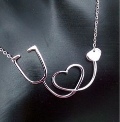 Nurses, doctors, and anyone in--or about to be in—the medical field will love this unique pendant. The stethoscope loops to form a heart, representing the kindness, love, and compassion those in the m