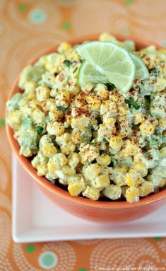Crazy corn salad inspired by the Mexican corn salad called esquites. Esquites is a play on Mexican street corn called elote. Mexican Dishes, Mexican Food Recipes, Vegetarian Recipes, Cooking Recipes, Healthy Recipes, Mexican Corn, Corn Recipes, Mexican Avocado, I Love Food