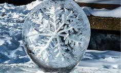 Die schönsten Bilder von unseren Reisen 2015 - Schneeflocke im Eis  ... #winterlude #ottawa