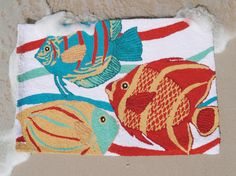 Our South Seas Fish rug adds a bright and cheery pop of color! #Fish #Accent