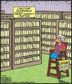 Librarian on duty - Free Range by Bill Whitehead. November 28, 2017