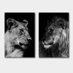 Animals Beautiful, Cute Animals, Lion Couple, Lion And Lioness, Lion Love, Apartment Bedroom Decor, Spirit Animal, Wallpaper Quotes, Love Art