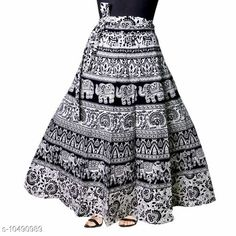 Ethnic Bottomwear - Skirts Jaipuri Print Cotton Black Ethnic Wrap Around Skirt For Women/ Grils Fabric: Cotton Pattern: Printed Multipack: 1 Sizes:  Free Size 26 (Waist Size: 26 in, Length Size: 40 in, Hip Size: 32 in)  28 (Waist Size: 28 in, Length Size: 40 in, Hip Size: 34 in)  30 (Waist Size: 30 in, Length Size: 40 in, Hip Size: 36 in)  32 (Waist Size: 32 in, Length Size: 40 in, Hip Size: 38 in)  34 (Waist Size: 34 in, Length Size: 40 in, Hip Size: 40 in)  36 (Waist Size: 36 in, Length Size: 40 in, Hip Size: 42 in)  38 (Waist Size: 38 in, Length Size: 40 in, Hip Size: 44 in)  40 (Waist Size: 40 in, Length Size: 40 in, Hip Size: 46 in)  42 (Waist Size: 42 in, Length Size: 40 in, Hip Size: 48 in)  44 (Waist Size: 44 in, Length Size: 40 in, Hip Size: 50 in)  46 (Waist Size: 46 in, Length Size: 40 in, Hip Size: 52 in) Sizes Available: Free Size, 26, 28, 30, 32, 34, 36, 38, 40, 42, 44, 46 *Proof of Safe Delivery! Click to know on Safety Standards of Delivery Partners- https://ltl.sh/y_nZrAV3  Catalog Rating: ★4.2 (1504)  Catalog Name: Myra Ensemble Women Ethnic Skirts CatalogID_1914881 C74-SC1013 Code: 082-10490989-