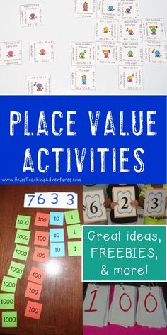 If you're on the lookout for great place value activities you can use in the elementary classroom, you've come to the right place! This blog post contains great ideas, games, FREE downloads, center ideas, printables, and more to solidify place value concepts. Adapt the ideas for tens, hundreds, thousands, ten thousands, decimals, and more. Use these with your Kindergarten, 1st, 2nd, 3rd, 4th, 5th, or 6th grade students. {first, second, third, fourth, fifth, sixth graders, freebie}