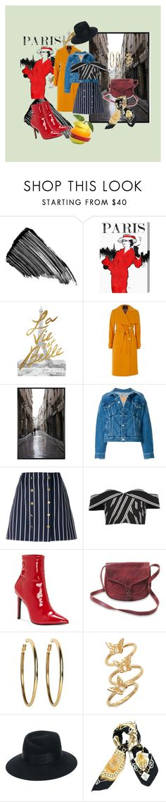 """Paris Fash"" by timmology on Polyvore featuring Sisley, Oliver Gal Artist Co., Pottery Barn, Balenciaga, Thom Browne, Alice + Olivia, Jessica Simpson, Kenneth Jay Lane, Kate Spade and Maison Michel"