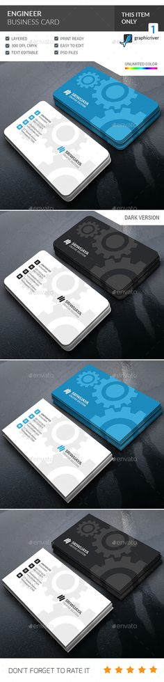 Engineer Business Card Template PSD #design Download: http://graphicriver.net/item/engineer-business-card-/14342938?ref=ksioks