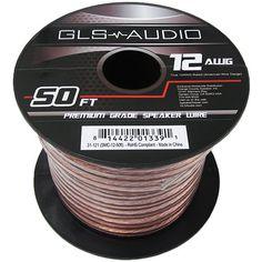 GLS Audio Premium 12 Gauge 50 Feet Speaker Wire - True 12AWG Speaker Cable 50ft Clear Jacket - High Quality 50' Spool Roll 12G 12/2 Bulk - http://www.audiovideocabledeals.com/audio-cables/audio-cables-speaker-wires/gls-audio-premium-12-gauge-50-feet-speaker-wire-true-12awg-speaker-cable-50ft-clear-jacket-high-quality-50-spool-roll-12g-122-bulk/