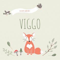Geboortekaartje Vos Viggo - WL voor