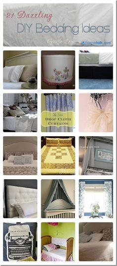 21 Dazzling {DIY Bedding} Ideas   curated by 'Giraffe Legs' blog!