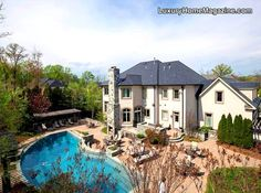 LHM Washington D.C. - Live in casual elegance; entertain large. Sited on .83 acres, this lovely home offers 5 en suite bedrooms, 4 fireplaces, gourmet kitchen, stylish dining, sitting, & music rooms. Open family living areas lead to exquisitely landscaped outdoor sanctuary. Lower level exercise room with steam shower bath, game room, & bar lead to outdoor living area with negative edge waterfall pool ... #Backyard #Pool #LuxuryLiving
