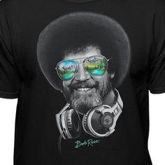 aaef56727e1 DJ Bob Ross Officially Licensed Headphone   Shades T-shirt