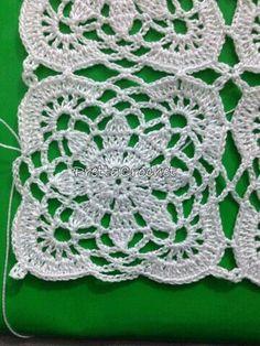 Transcendent Crochet a Solid Granny Square Ideas. Inconceivable Crochet a Solid Granny Square Ideas. Crochet Doily Rug, Crochet Motif Patterns, Crochet Blocks, Crochet Tablecloth, Crochet Squares, Filet Crochet, Crochet Designs, Crochet Flowers, Crochet Stitches
