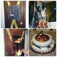 Decoracion y torta de halloween Birthday Cake, Desserts, Food, Decorations, Food Cakes, Tailgate Desserts, Birthday Cakes, Deserts, Essen