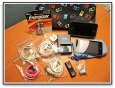 bag your cords/electronics and then put in a larger freezer size to keep them organized and easy to find