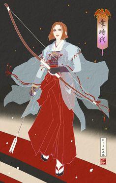 Ukyo-e Leliana Dragon Age fan art - Created by Dakkun39