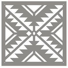 45 Ideas Home Decor Ideas Everyone Should Have - Interior Design Stencil Patterns, Tribal Patterns, Stencil Designs, Quilt Patterns, Stencils, Geometric Stencil, Navajo Pattern, Stenciled Floor, Floor Stencil