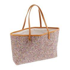 Girls' glitter tote bag in colorblock - the glitter shop - Girl - J.Crew
