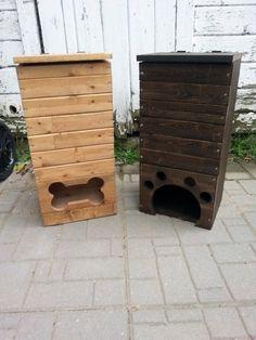 wood box, pallet box, reclaimed wood, dog toy box