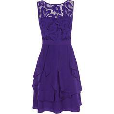 Coast Daymee Dress ($84) ❤ liked on Polyvore featuring dresses, short dresses, vestidos, 13. dresses., purple, purples lilacs, sexy low cut dresses, v-neck dresses, low cut dresses and v neck cocktail dress