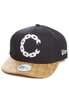 Snapback Fashion Blog Crooks and Castles Men's The Chain C Throwback Snapback in Dark Navy and Yellow Croc