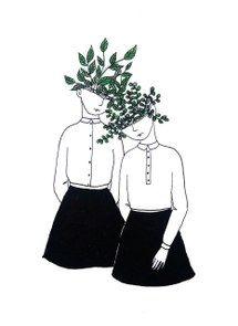art, beautiful, girls, inspiration, plants