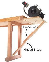 Hide-Away Tool Stand - Popular Woodworking Magazine #woodworkingbench