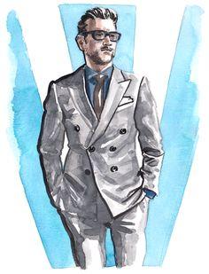 Daily Fashion Illustration 214, Tom D