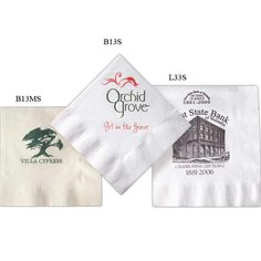 """With every beverage or plate of food, your name will be on someone's lips. Take note of these 10"""" x 10"""" paper napkins. They are a great replacement option to polyester or cloth You're sure to make a noteworthy impression at your next event. Made from 100% recycled paper up-to 80% post-consumer."""