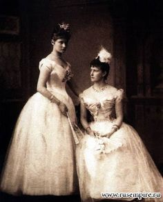 The future Empress Alexandra and her sister Grand Duchess Elizaveta Feodorovna