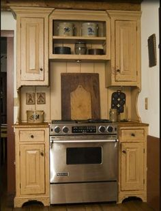 Stove and cabinets