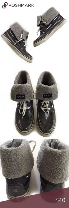 sperry topsider • high top sneakers with faux fur in great condition | does show signs of some dirt wear. Sperry Top-Sider Shoes Sneakers
