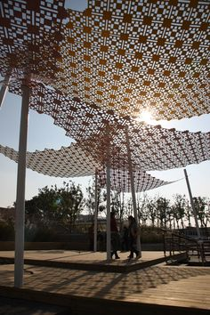1000 images about shade structures on pinterest for Metal sun shade structures