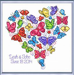 Once Upon a Butterfly - cross stitch pattern designed by Ursula Michael. Category: Wedding.