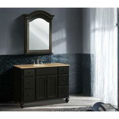 stufurhome 48 in. Alvina Single Sink Vanity with Travertine Marble Top and Mirror-GM-6115-48-TR at The Home Depot