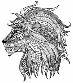 Free Coloring pages printables | Coloring | Pinterest | Lion head ...