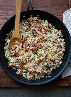 Easy Bacon Fried Rice Recipe for Bacon Lovers on BestRecipeBox.com