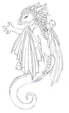 dragon tattoos for women on side | Baby dragon tattoo by ~Annikki on deviantART