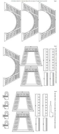 башня трафареты ,Eiffel tower templates - Мастер-классы по украшению тортов Cake Decorating Tutorials (How To's) Tortas Paso a Paso