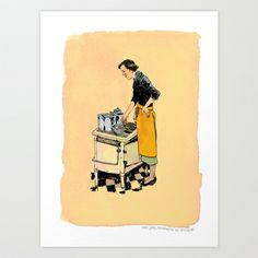 Saint Julia, Patroness of Kitchens Art Print by Lucy Knisley - $17.68