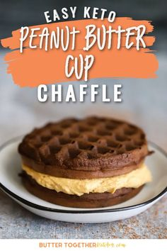 This easy homemade Keto Peanut Butter Cup Chaffle from Butter Together Kitchen is the perfect sweet treat chaffle when you're craving peanut butter! You will love the classic chocolate and peanut butter recipe combined in this sweet keto chaffle! Make this today for dessert or a snack! You will love this super easy recipe! Peanut Butter Cups, Whipped Peanut Butter, Peanut Butter Filling, Powder Peanut Butter Recipes, Peanut Butter Breakfast, Low Carb Sweets, Low Carb Desserts, Fun Desserts, Low Carb Recipes