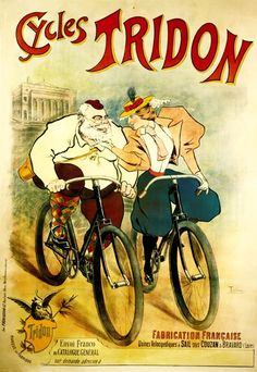 Cycles Tridon Bicycle Poster