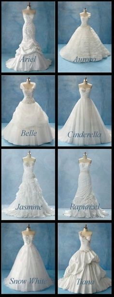 Disney Princess dresses I Love Snow White and Cinderella's!
