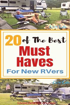 "20 Must Haves For New RVers Here's a starter list of ""must haves"" for your new RV or Travel Trailer to make sure you have a great camping experience your first time out. Camping Games, Diy Camping, Camping Checklist, Camping Activities, Camping Essentials, Family Camping, Camping Packing, Camping Recipes, Packing Lists"