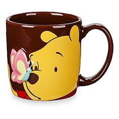 Winnie the Pooh Dimensional Mug | Disney Store Have yourself a Pooh-fect cup of coffee (with or without a smackerel of hunny!), plus a dash of whimsy with our Winnie the Pooh mug featuring the bear of very little brain with a raised, dimensional butterfly on his nose.