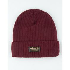 Adidas Originals Wide Rib Beanie ($22) ❤ liked on Polyvore featuring accessories, hats, beanie caps, beanie cap hat, patch hat, beanie hat and adidas beanie