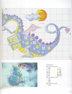 baby dragon cross stitch 2