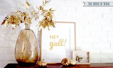 Celebrate the Fall Season and decorate for Autumn with this easy DIY project: gold spray-painted branches and leaves. Easy tutorial by The House of Wood.